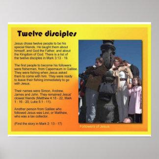 Religião, cristandade, discípulo de Jesus doze Posteres