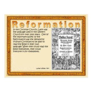 Religião, cristandade, escrituras, reforma cartão postal
