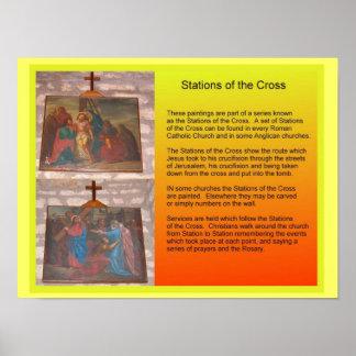 Religião, cristandade, estações da cruz poster
