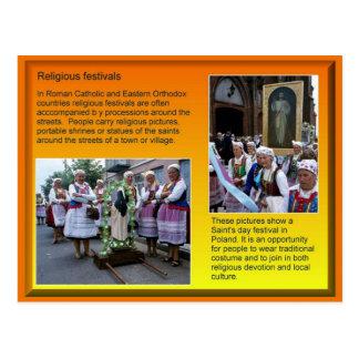 Religião, cristandade, festivais religiosos cartão postal