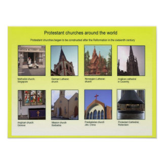 Religião, cristandade, igrejas protestantes pôsteres