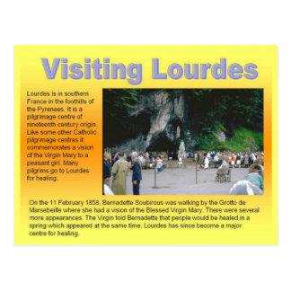 Religião, cristandade, Lourdes de visita Cartão Postal
