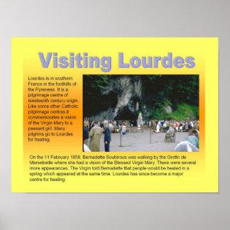 Religião, cristandade, Lourdes de visita Posteres
