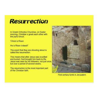 Religião, cristandade, páscoa, ressurreição cartão postal
