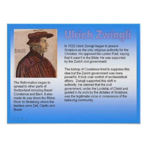 Religião, cristandade, Ulrich Zwingli Posters