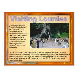 Religião, cristão, Lourdes de visita Cartão Postal