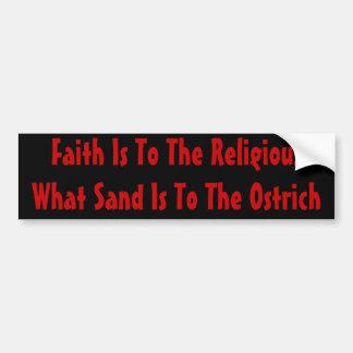 Religião da avestruz adesivo para carro
