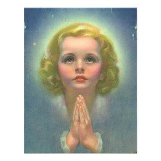 Religião do vintage, halo Praying da criança angél Convites Personalizados