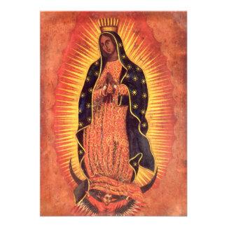 Religião do vintage, senhora de Guadalupe, Virgem  Convites Personalizados