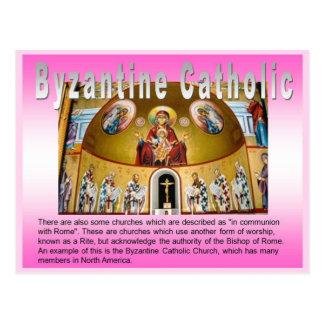 Religião, igreja católica romana, bizantina cartão postal