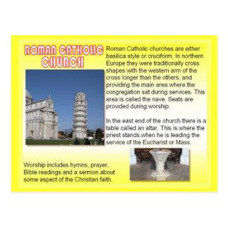 Religião, igrejas católicas romanas cartão postal