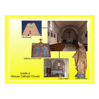 Religião, interior católico romano cartão postal