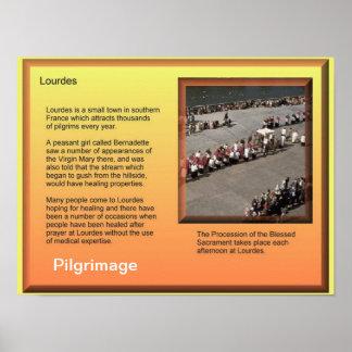 Religiões do mundo, cristandade, Lourdes, peregrin Posters