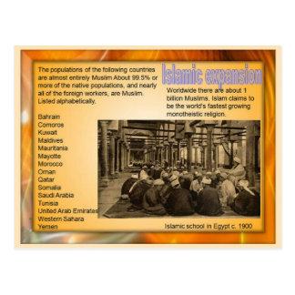 Religiões do mundo, expansão islâmica cartão postal