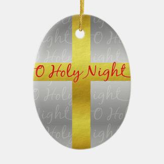 Religioso cristão bonito transversal do Natal Ornamento De Cerâmica
