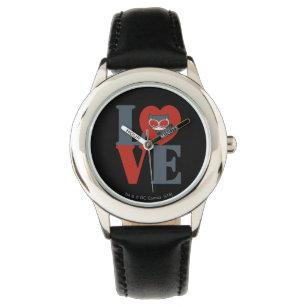 aa4a81dd336 Relógio AMOR da mulher-gato de Chibi
