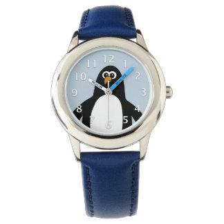 Relógio Azul do pinguim