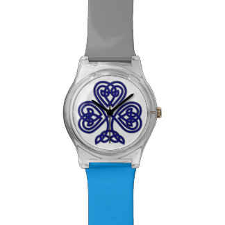 Relógio celta azul do trevo