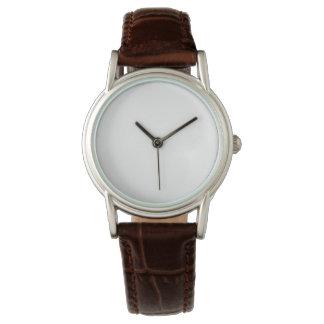 Relógio clássico da correia de couro do Brown das