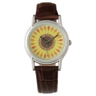 Relógio clássico do girassol