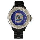 Relógio colorido do crânio do açúcar - dia do