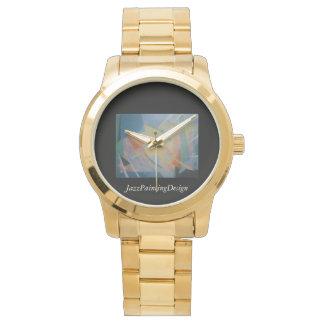 Relógio com o bracelete do ouro com