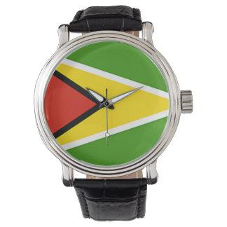 Relógio da bandeira de Guyana