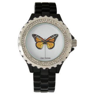 Relógio da borboleta de monarca