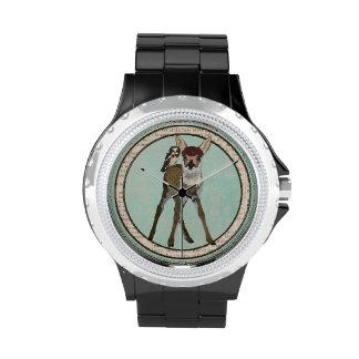 Relógio da JOVEM CORÇA & da CORUJA