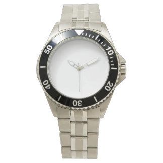 Relógio de aço inoxidável do bracelete dos homens