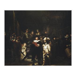 Relógio de noite por Rembrandt Impressão Em Tela