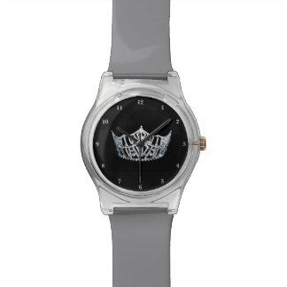 Relógio de prata da senhorita América coroa o 28