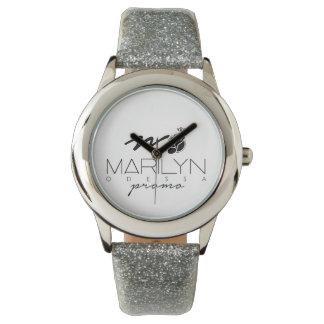 Relógio de prata feito sob encomenda do brilho