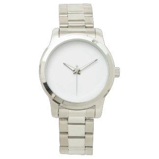 Relógio de prata unisex desproporcionado