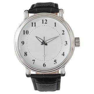 Relógio De Pulso 12 horas de x com preto mínimo do modelo de 60
