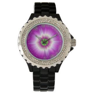 Relógio De Pulso 60 pontos cor-de-rosa mínimos com explosão da cor