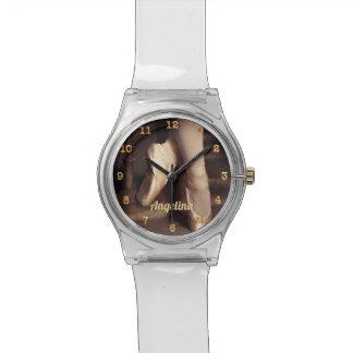 Relógio De Pulso Calçados customizáveis do dançarino de balé da