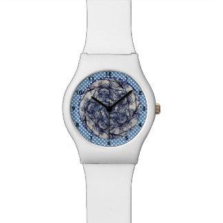 Relógio De Pulso Caleidoscópio do azul do inverno