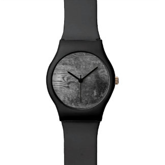 Relógio De Pulso cara de madeira preto e branco da prancha