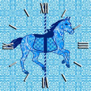 e34b32046a2 Relógio De Pulso Cavalo do carrossel - cobalto e azul-céu