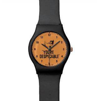 """Relógio De Pulso DAFFY clássico DUCK™ """"você é desprezível """""""