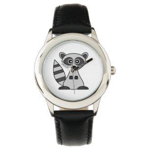 f59988905d9 Relógio De Pulso Desenhos animados bonitos do guaxinim