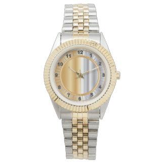 Relógio De Pulso Design da mistura do ouro e da prata