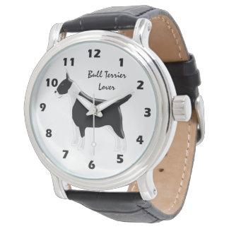 Relógio De Pulso Design personalizado do cão de bull terrier