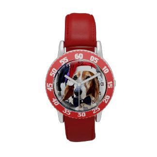 Relógio de pulso do feriado dos miúdos de Basset H