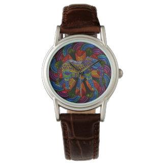 Relógio De Pulso Elefante e mandala ornamentado coloridos