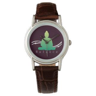 "Relógio De Pulso ""Equilíbrio"" Buddha. bonito"