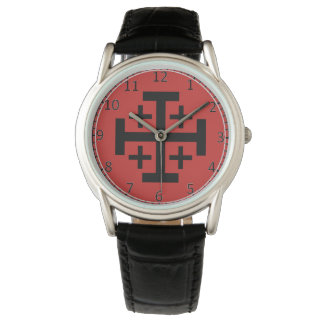 Relógio De Pulso eWristwatch do costume da cruz de Jerusalem