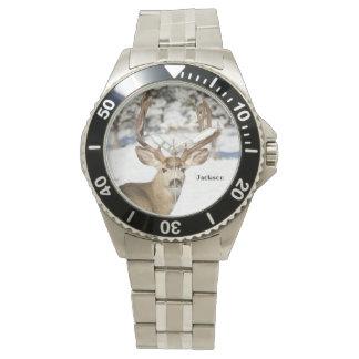 Relógio De Pulso Fanfarrão personalizado dos cervos de mula