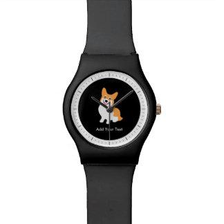 Relógio De Pulso Filhote de cachorro bonito do Corgi do Pembroke de